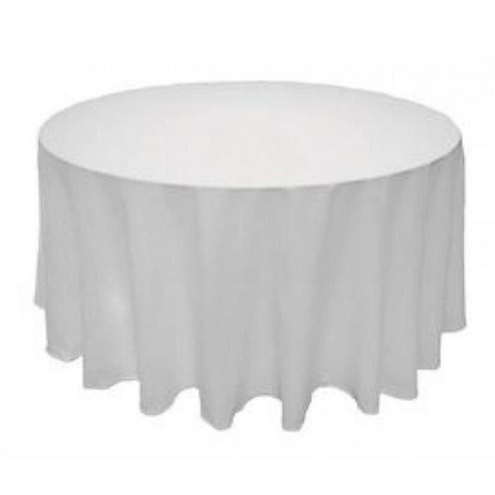 l 39 alysse nappe de table rond mariage maison blanc en satin 90 pouces 230 cm achat vente. Black Bedroom Furniture Sets. Home Design Ideas