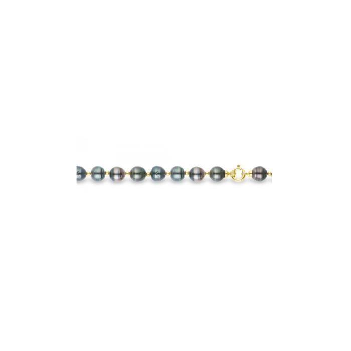 Bracelet Perle de Tahiti et Or Jaune 375/1000 - Blue Pearls