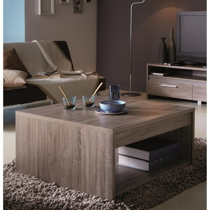 Steen Foncé Chêne Table Coloris Basse 80x80cm CBdxeQrWoE