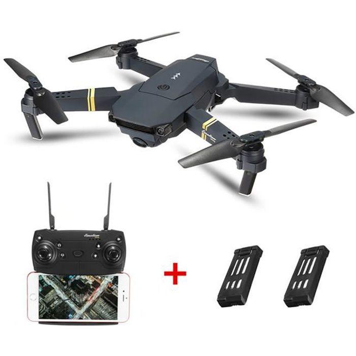 DRONE Eachine E58 WIFI FPV RC Drone 2MP Caméra 2 Batteri
