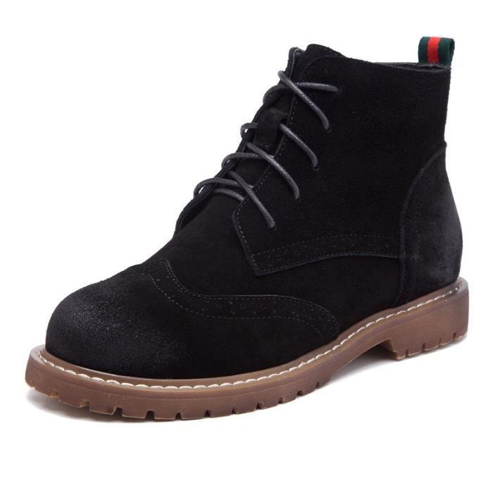 Mode martin bottes en cuir véritable de chaussures automne hiver des femmes