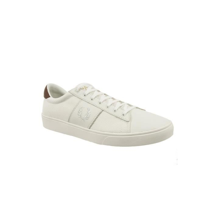 baskets mode fred perry b1202 spencer blanc