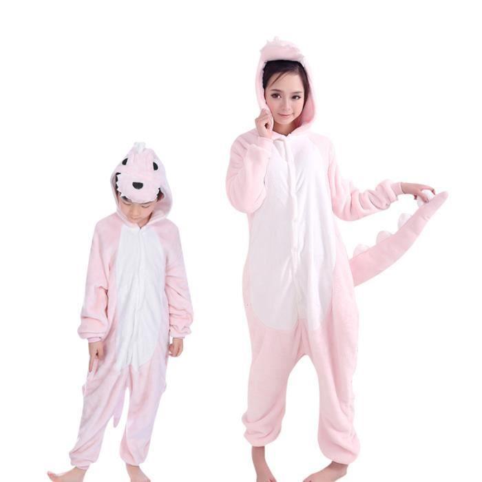 Dinosaures Enfant 100 Hiver Cosplay Fille Animé Roses Llt Pyjama Garçon Kigurumi fz005rose qYnwA5nxH