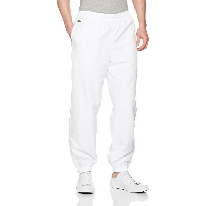 4d0a3269a8a Lacoste Pantalon Survêtement Plaine 1VFU4W Taille-L Blanc Blanc ...
