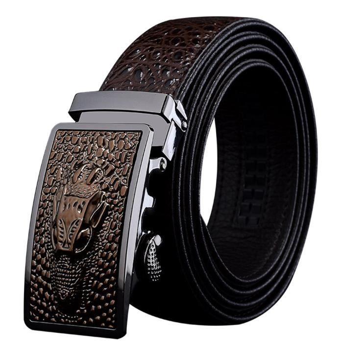 Hommes Ceinture en cuir, ceintures automatiques boucle 3IIW2E Taille ... 6df028899c4