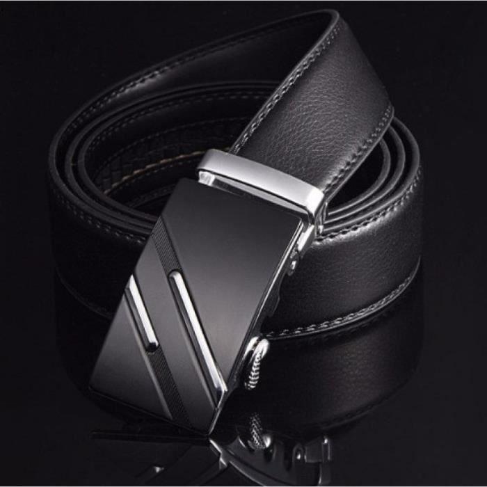 9a50c0ec3520 Ceinture homme luxe double tirer Noir Noir - Achat   Vente ceinture ...
