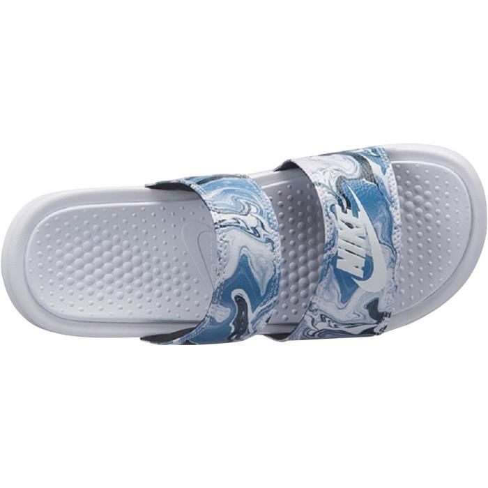 d90230383a601 Nike Benassi Duo Ultra Slide Femme Blanc Blanc - Achat   Vente tong ...