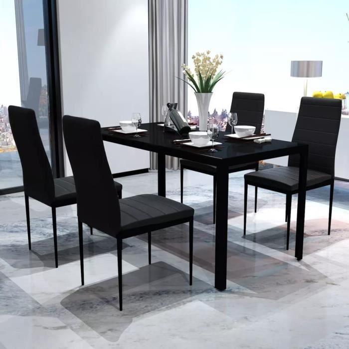 CHAISE 1 Table Et 4 Chaises Ensemble De Pour Salle