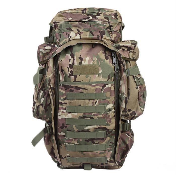 Unisexe 60L épaules multifonctionnelles Sac pour hommes et femmes, couleur camouflage