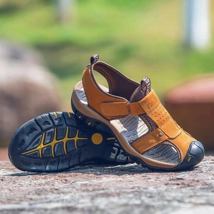 Sandales Plage Des orteil Cuir Pour Chaussures Été Hommes Peep gqwrxtvga