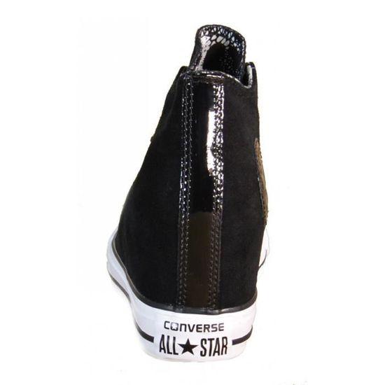 Converse - Converse All Star Ct Lux Mid Black Chaussures de Sport Noir Cuir  549558C Noir Noir - Achat   Vente chaussures multisport - Soldes  dès le 9  ... ffa021a755ed