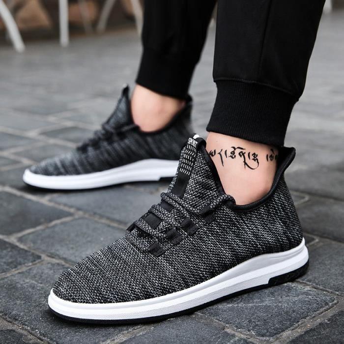 Chaussure Homme Printemps Été Comfortable Respirant Slip On Chaussures BBZH-XZ070Marron44 MpOtqg1JGs