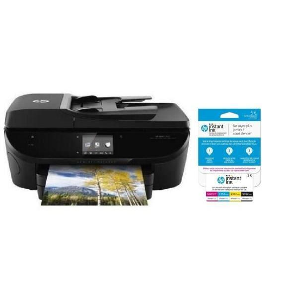 HP Imprimante HP Envy 7640 + carte Instant Ink crédit de 5€ sur votre compte