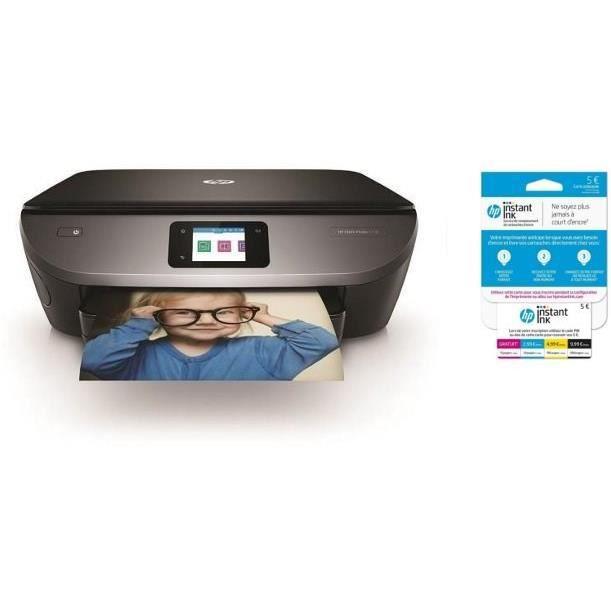 HP Imprimante Tout en un Envy Photo 7130 + Carte Instant Ink crédit de 5€ sur votre compte