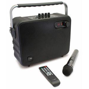 CALIBER HPG517BT Enceinte portable Bluetooth portable avec batterie intégrée et option Karaoké Sing-Along