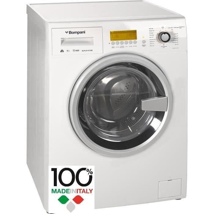 Frontal-10 kg lav / 7 kg séch-1400 tours / min-Classe B-Blanc-Ecran LCD avec commandes digitales-19 programmesLAVE-LINGE SECHANT