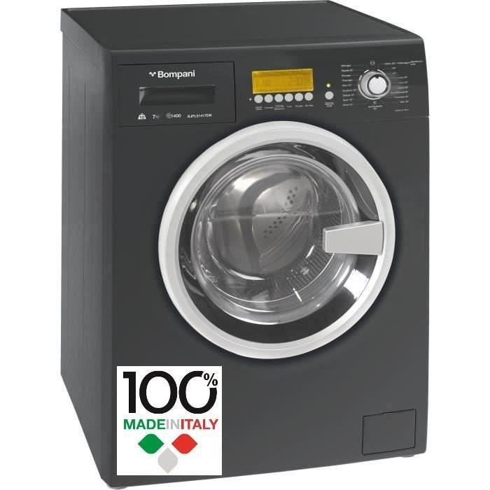 Frontal-10 kg lav / 7 kg séch-1400 tours / min-Classe B-Noir-Ecran LCD avec commandes digitales-19 programmesLAVE-LINGE SECHANT