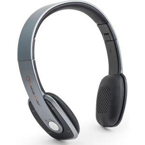MUSICMAN BT-X27 Casque Bluetooth Slim avec fonction mains libres et radio FM - Gris