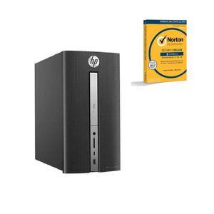 HP Pavilion PC de bureau - 570p017nf - 4 Go de RAM - Windows 10 - INTEL CORE I3-7100 - INTEL HD GRAPHICS- Disque dur 1To + Norton