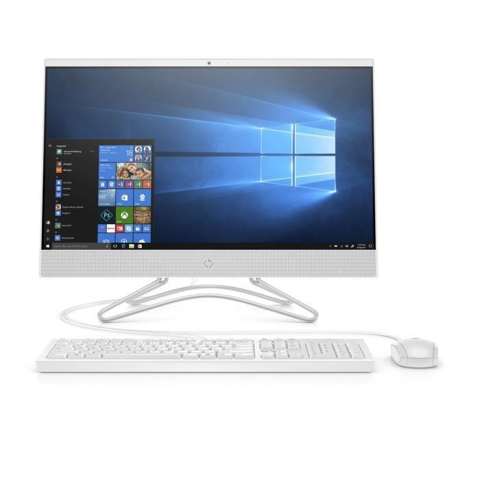 Ordinateur Tout-en-un - HP 24-f0017nf - 23,8 pouces FHD - Pentium Silver J5005 - 8Go de RAM - Disque Dur 256Go SSD - Windows 10