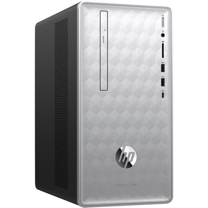 Unité Centrale - HP Pavilion 590-p0017nf - Core i5-8400 - 8Go de RAM - Disque Dur 2To HDD + 128Go SSD - Windows 10