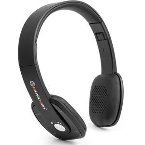 MUSICMAN BT-X27 Casque Bluetooth Slim avec fonction mains libres et radio FM - Noir