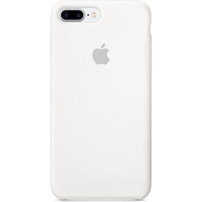Apple Coque en Silicone pour  iPhone 7 Plus Blanc
