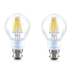 INTEGRAL LED Lot de 2 ampoules classic B22 filament 7 W équivalent ? 60 W 2700 K 806 lm