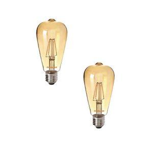 SYLVANIA Lot de 2 ampoules LED ? filament Toledo Retro ST 64 Edison ambré E27 4 W équivalent ? 35 W