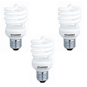 SYLVANIA Lot de 3 ampoules mini-Lynx fluo E27 8 W équivalent ? 40 W