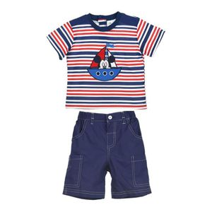Ensemble de vêtements MICKEY Ensemble Bleu T-shirt + Bermuda Sérigraphié