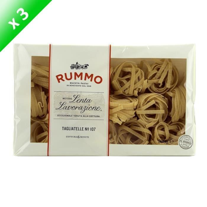 PÂTES ALIMENTAIRES RUMMO Lot de 3 Tagliatelle Nidi N°107 - 500 g