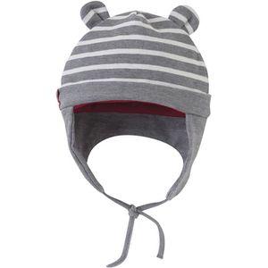 BONNET - CAGOULE Bonnet bébé Garçon SUCRE D'ORGE - Gris et écru Les