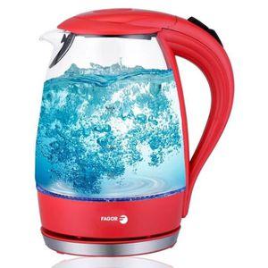BOUILLOIRE ÉLECTRIQUE Fagor - Bouilloire en verre rouge 2200W 1.7L