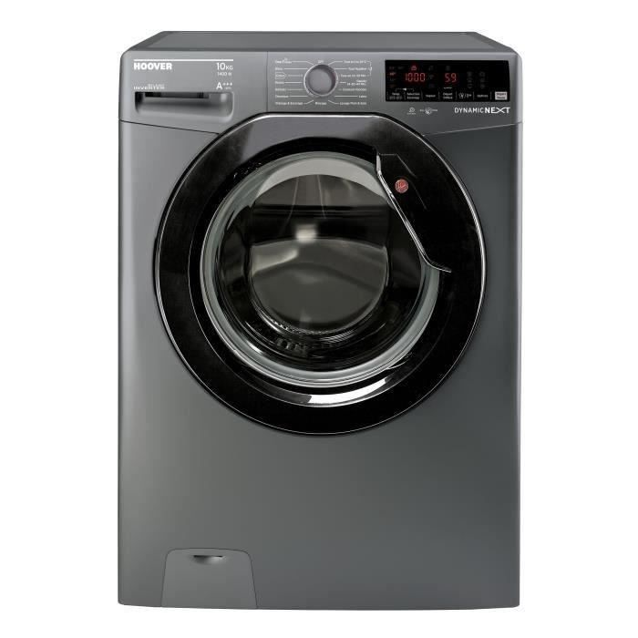 HOOVER DWOA410AHB7R1 Lave-linge frontal - 10 kg - 1400 trs   min - A+++ -  Anthracite a6f3a8ae289f