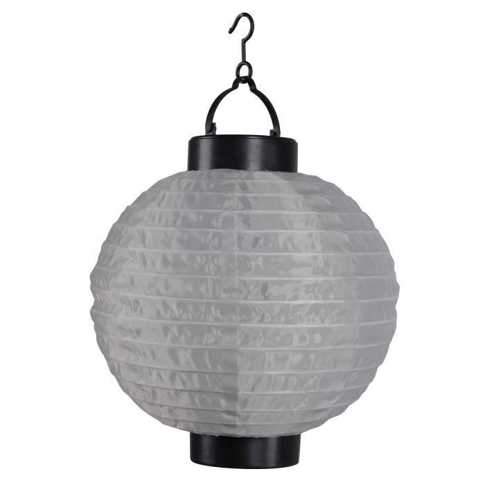 Ø20cm Taupe Chinoise En Solaire Lanterne Plastique eBoWQrCxd
