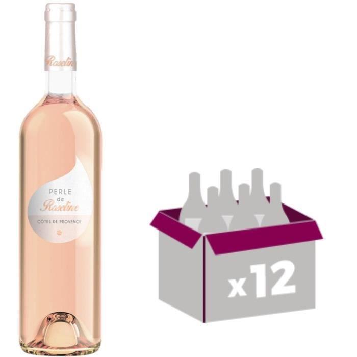 VIN ROSÉ Perle de Roseline 2017 vin rosé 12x75cl Côtes de P