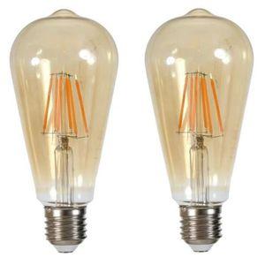 AMPOULE - LED Lot de 2 Ampoules LED filament Edison E27 6 W équi