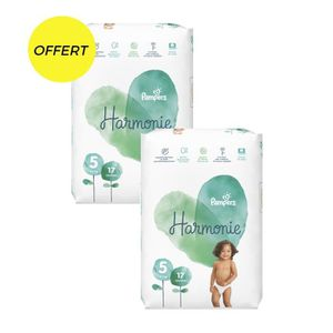 COUCHE Pampers harmonie t5 x34 couches - paquet