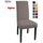 Housse de chaise gris