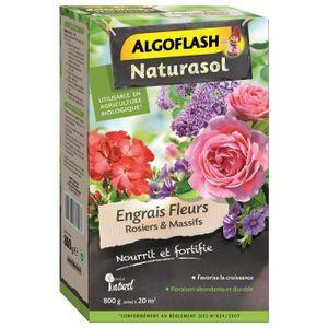 ALGOFLASH NATURASOL Engrais Fleurs, rosiers et massifs - 800 g