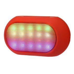 ENCEINTE NOMADE couleur LED sans fil Bluetooth Haut-parleur stéréo