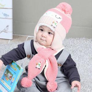 ECHARPE - FOULARD Bébés garçons filles Bonnet hiver chaud Hat enfant c4d2fdd5606
