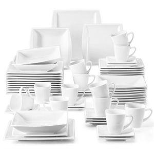 SERVICE COMPLET Malacasa Série Blance 60pcs Service de Table Porce