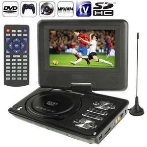LECTEUR DVD PORTABLE DVD noir Console jeux portable 7 pouces (MP3,MP4,T