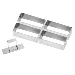 EMPORTE-PIÈCE  Lot de 4 nonnettes rectangle + poussoir - Gobel 9x