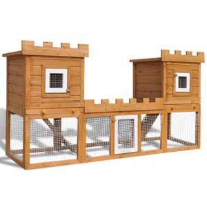 CLAPIER Homgeek Grande Cage Clapier en Bois Extérieur pour