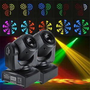 LAMPE ET SPOT DE SCÈNE LESHP 2pcs 30W LED Lyres de Scène DMX512 Disco Pub