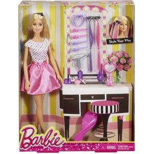 POUPÉE Mattel - Poupée Barbie avec Accessoires pour Cheve