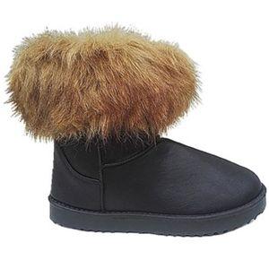 Fashionfolie888 - Femme Bottes Bottine Boots fur Fourré Fourrure Cheville Court Hiver Fille JR908 TAUPE CicNI4
